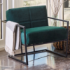 Federico Deep Green Velvet Armchair room set