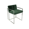 Federico Deep Green Velvet Dining Chair 1