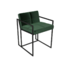Federico Deep Green Velvet Dining Chair