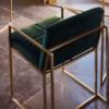 Federico Deep Green Velvet Dining Chair 3