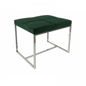 Federico Deep Green Velvet Stool