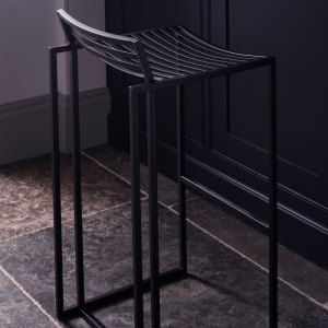 Federico Matt Black Bar Stool 1