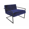 Federico Midnight Blue Velvet Armchair