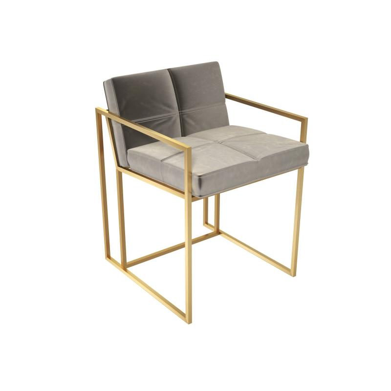 Federico Mushroom Velvet Dining Chair