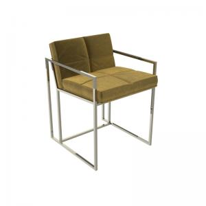 Federico Mustard Velvet Dining Chair 1