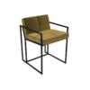 Federico Mustard Velvet Dining Chair