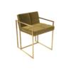 Federico Mustard Velvet Dining Chair 2