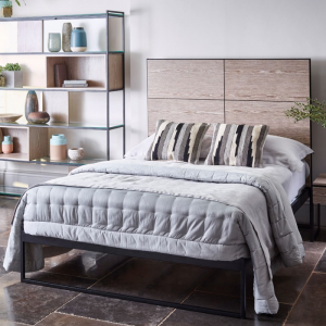 Federico Weathered Oak Bedstead 1