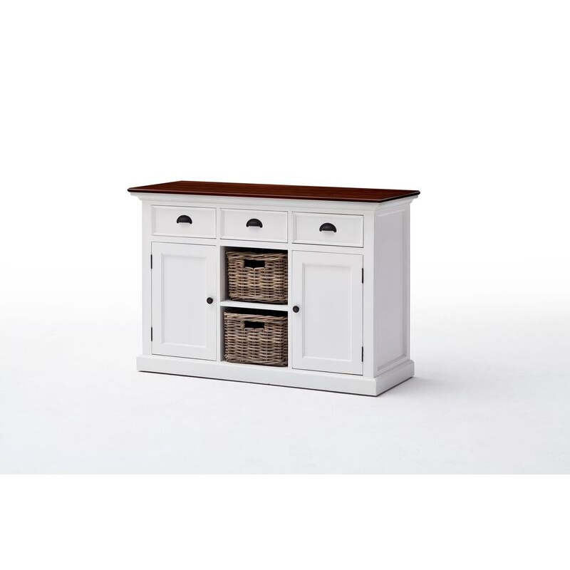 Halifax Accent Wooden Top Sideboard - 2 Baskets Included