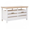Newport White Painted 2 Drawer Bench 1