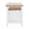 Newport White Painted 2 Drawer Bench 2