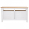 Newport White Painted 2 Drawer Bench 3