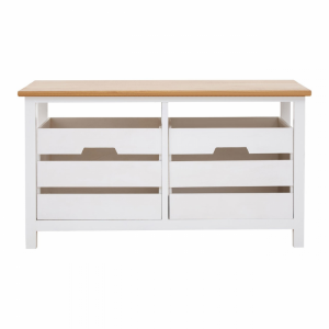 Newport White Painted 2 Drawer Bench