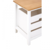 Newport White Painted 2 Drawer Bench 5