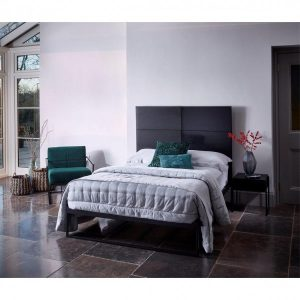 Federico Black Stained Oak Bedstead