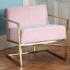Federico Blush Velvet Armchair Roomset