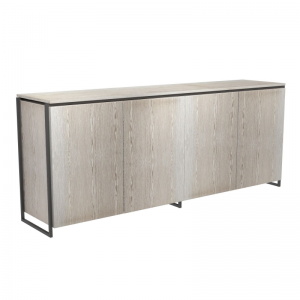 federico_118-Federico Weathered Oak Sideboard - 4 Door