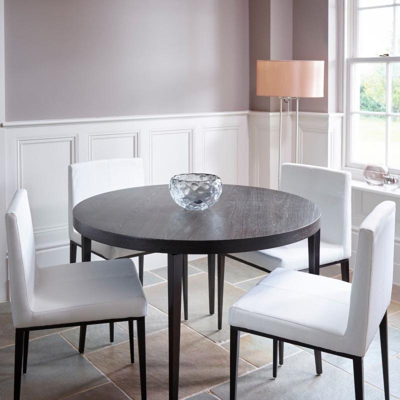Fitzroy Charcoal Oak Circular Dining Table 1