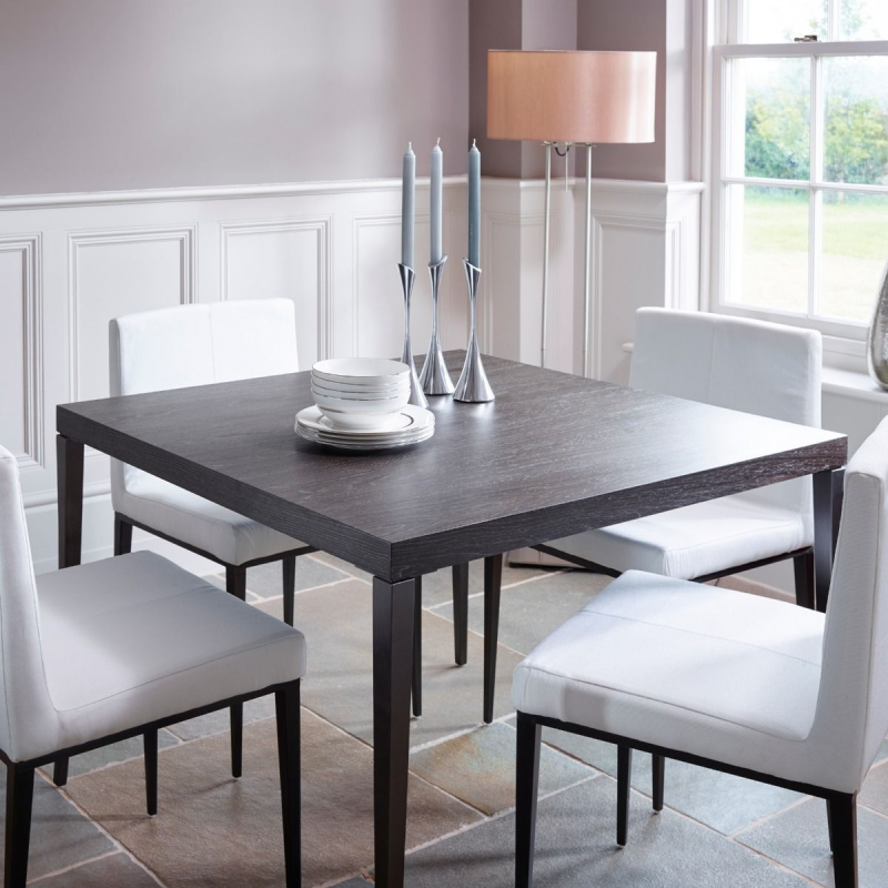 Fitzroy Charcoal Oak Square Dining Table