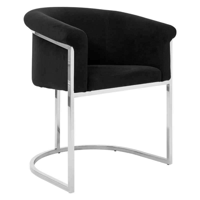 Vogue Black Velvet Dining Chair Dining Furniture Fads
