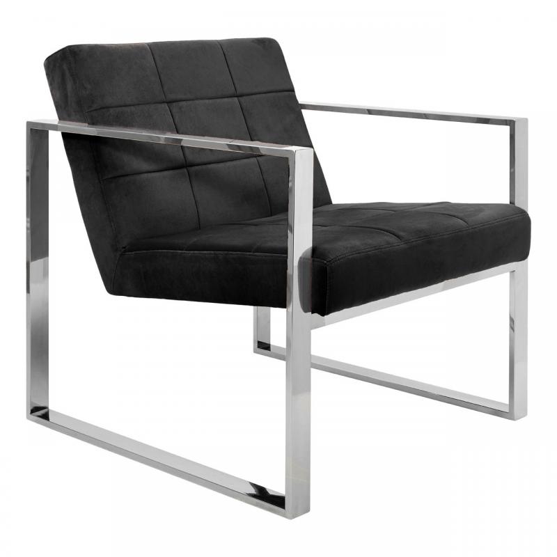 Black Velvet Armchair 1