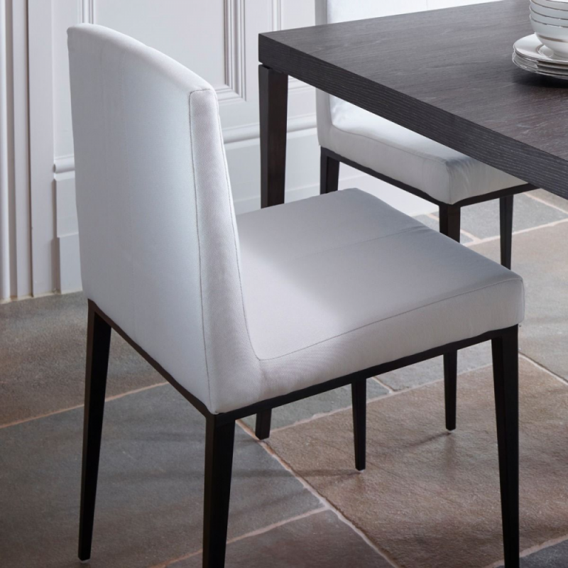 Fitzroy Off White Upholstered Dining Chair lifestyle