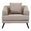Mylo Natural Fabric Armchair
