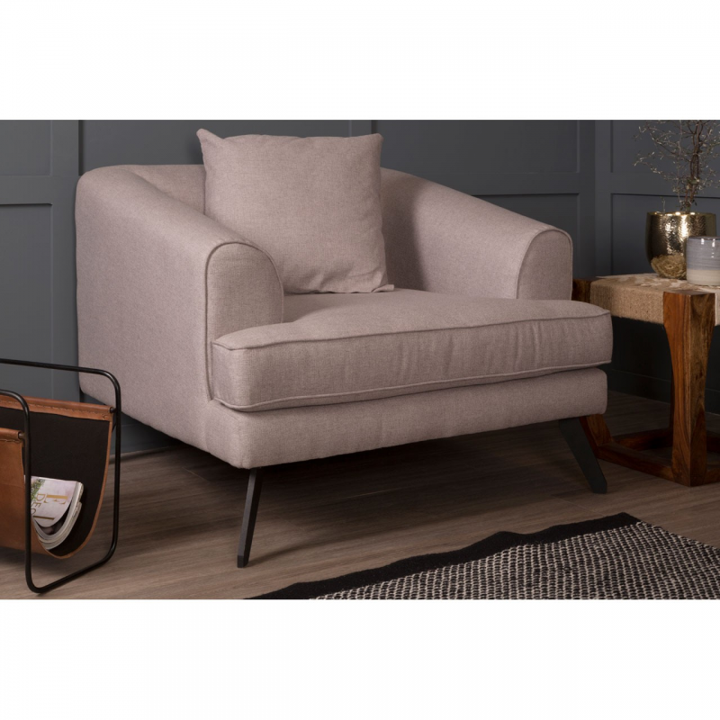 Mylo Natural Fabric Armchair 5
