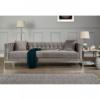 Rena Grey Velvet 3 Seater Sofa 4