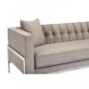 Rena Grey Velvet 3 Seater Sofa 6