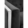 Vogue Black Velvet 3 Seater Sofa 4
