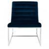 Vogue Velvet Midnight Blue Curved Cocktail Chair