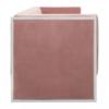 ogue Pink Velvet 3 Seater Sofa 2