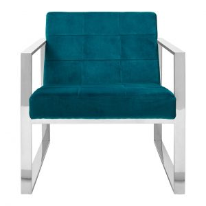 vogue cocktail velvet teal armchair