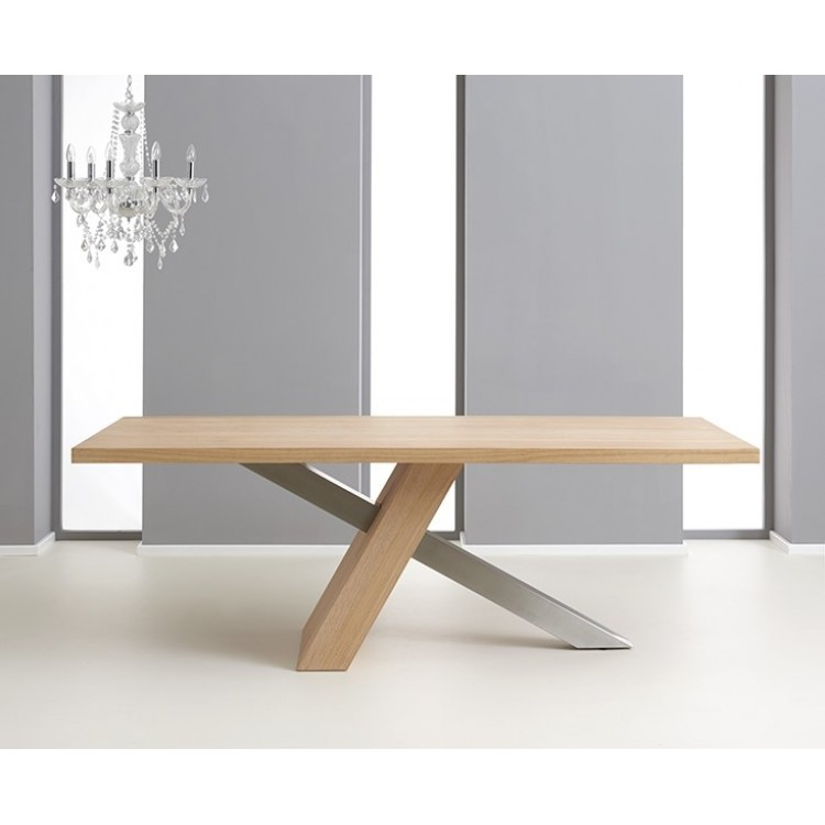 Montana 225 cm Oak Veneer Dining Table