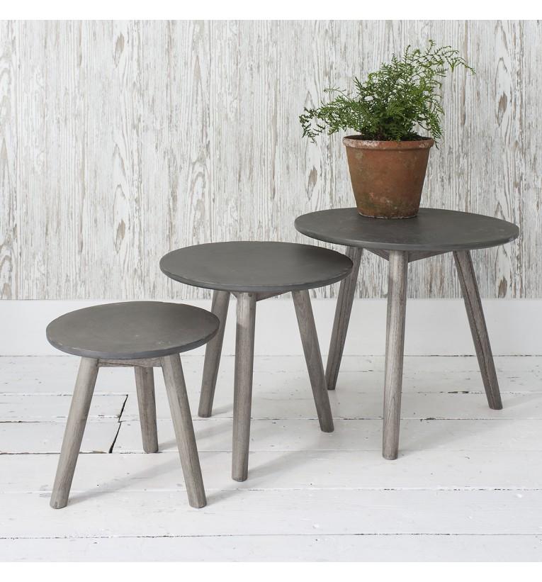 Bergen Nest of Tables (Table Colour: Grey)