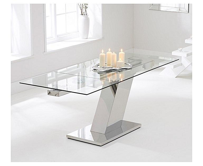 Lamont 140 cm Glass Extending Dining Table