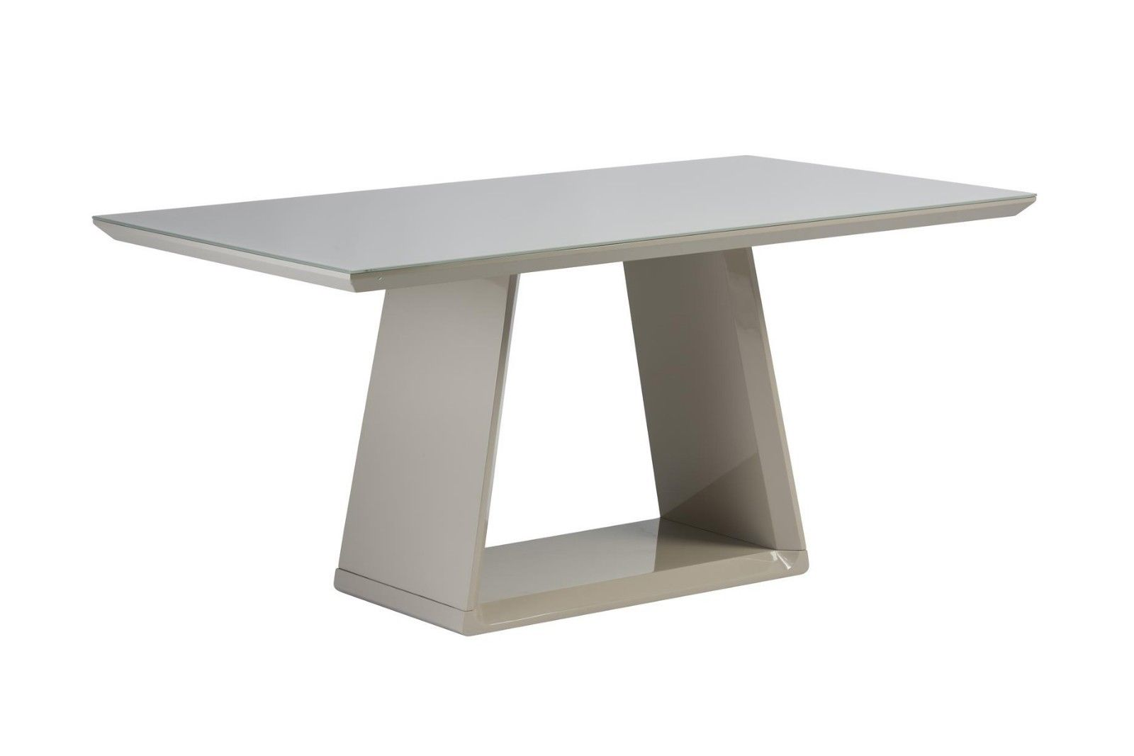 Lucca Gloss 6 Seater Dining Table (Table Colour: Latte)