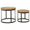 Boho Round Wooden Nest Of Tables 2
