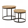 Boho Round Wooden Nest Of Tables 3