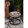 Boho Round Wooden Nest Of Tables 5
