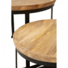 Boho Round Wooden Nest Of Tables 8