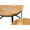 Boho Round Wooden Nest Of Tables 9