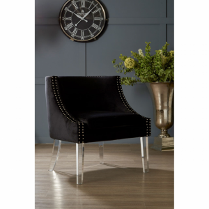 Clarence Studded Black Accent Chair 4