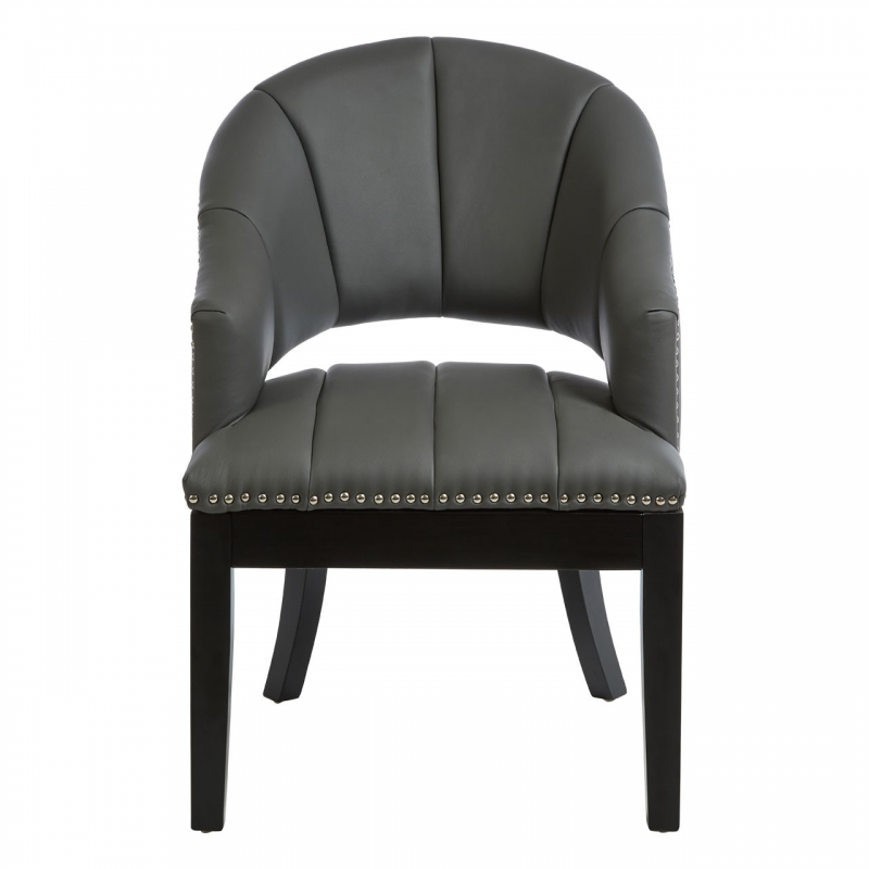Dorchester Grey Faux Leather Chair