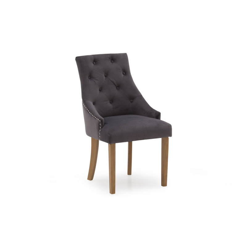 Hobbs Velvet Dining Chairs - (Various Colours Available) (Chair Colour: Velvet Misty)