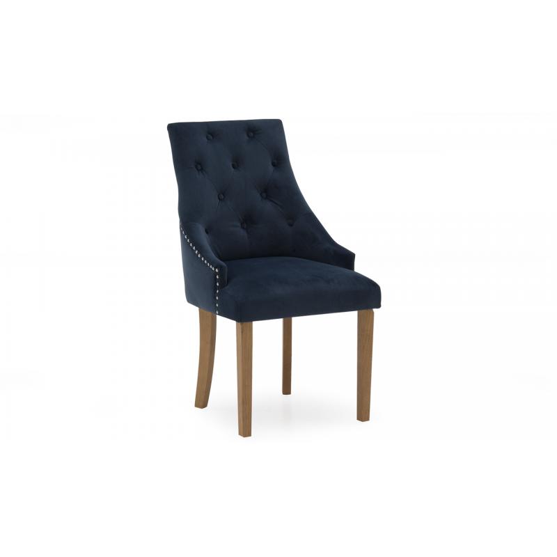 Hobbs Velvet Dining Chairs - (Various Colours Available) (Chair Colour: Velvet Midnight)