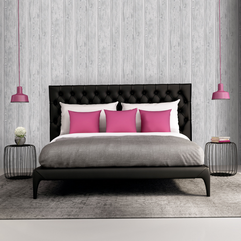 Lipsy Metallic Silver Wooden Wallpaper