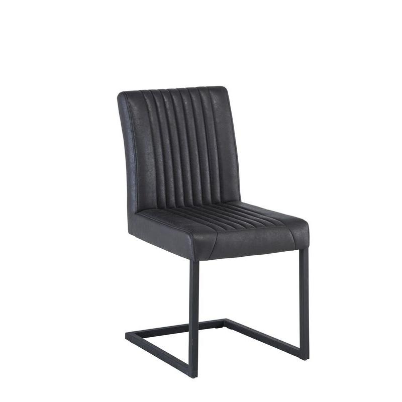 Raffles Fabric Dining Chair (Chair Colour: Grey)