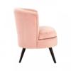 Round Pastel Pink Velvet Armchair 2